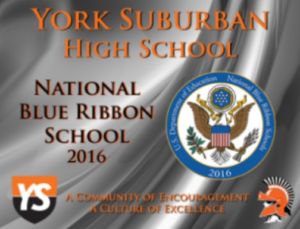 Fall of 2016, US Dept. of Education names YSHS a National Blue Ribbon School.